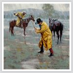 Cowboy Golf Swinging in the Rain 9