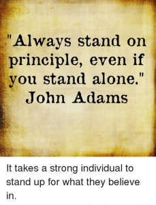 Always Stand for Principle JA 1