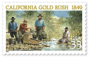 California Gold Rush Stamp 1